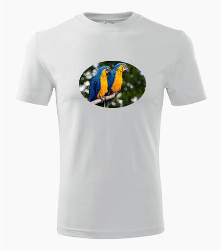 Tričko s papouškem 5 - Dárek pro chovatele ptactva