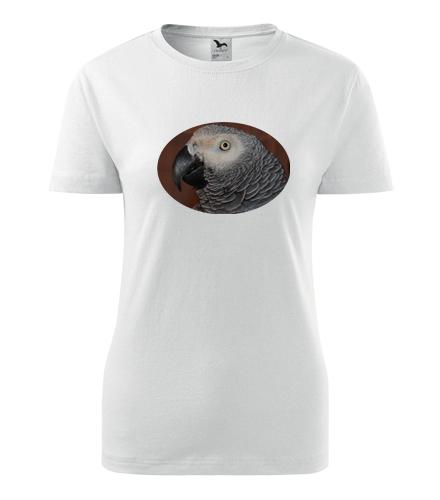Dámské tričko s papouškem 6 - Trička se zvířaty dámská