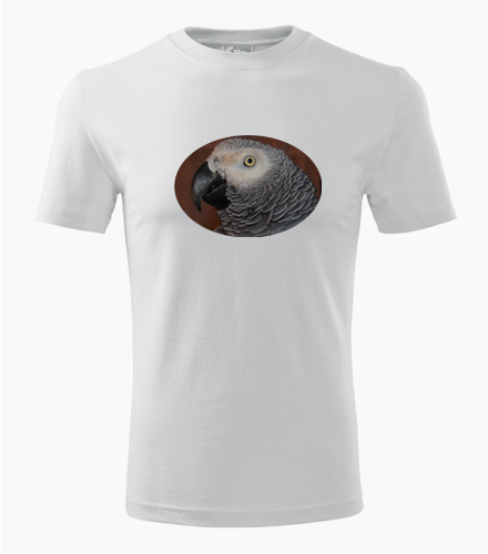 Tričko s papouškem 6 - Dárek pro chovatele ptactva