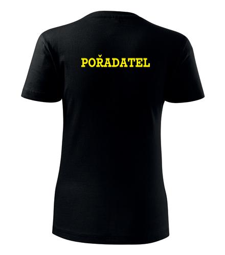 Dámské tričko pořadatel - Trička security