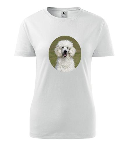 Dámské tričko s pudlem - Dárky pro chovatelky psů