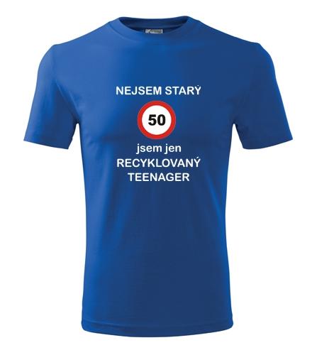 Tričko recyklovaný teenager 50 - Dárek pro muže k 50
