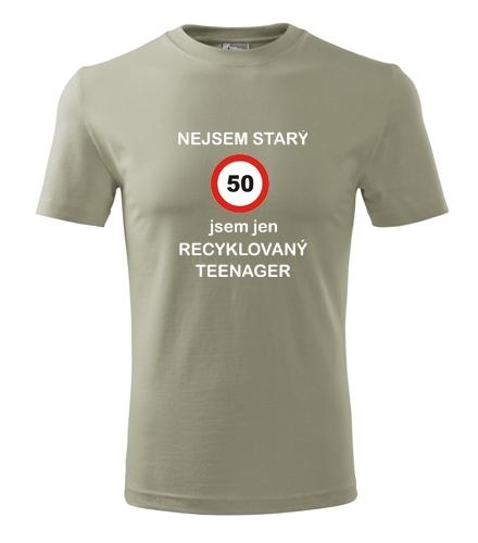 Darek k 50 pro muže Tričko recyklovaný teenager 50 světlá khaki