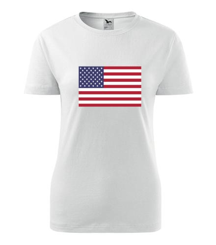 Dámské tričko s americkou vlajkou - Trička s vlajkou dámská