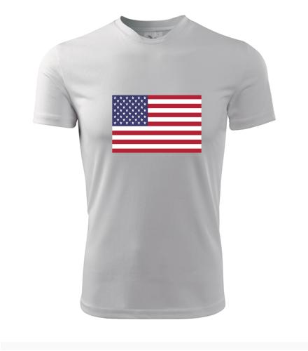 Tričko s americkou vlajkou - Trička s vlajkou pánská