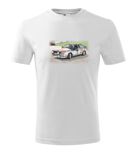 Dětské tričko s kresbou Audi Quattro - Dětská trička s auty