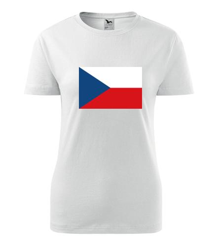 Dámské tričko s českou vlajkou - Trička s vlajkou dámská