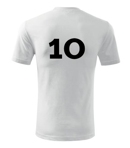Tričko s číslem 10 - Dárek pro fotbalistu