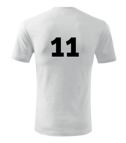 Tričko s číslem 11 - Trička s číslem
