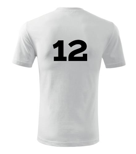 Tričko s číslem 12 - Dárek pro fotbalistu