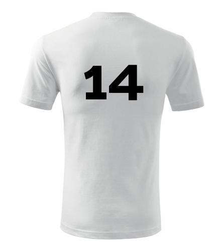 Tričko s číslem 14 - Trička s číslem