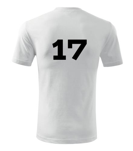 Tričko s číslem 17 - Trička s číslem