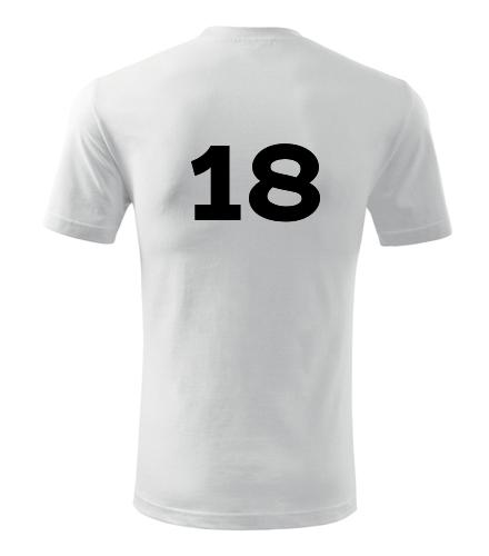 Tričko s číslem 18 - Trička s číslem