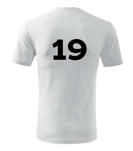 Tričko s číslem 19 - Trička s číslem