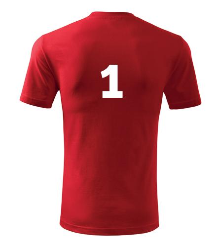 Tričko s číslem 1 - Trička s číslem