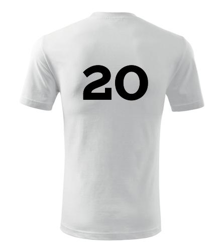 Tričko s číslem 20 - Trička s číslem