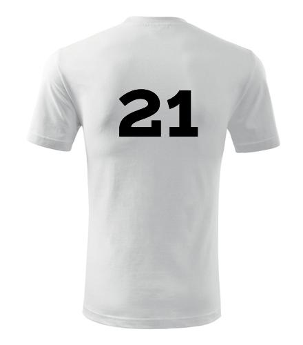 Tričko s číslem 21 - Trička s číslem