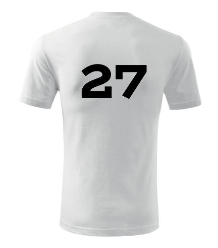 Tričko s číslem 27 - Trička s číslem