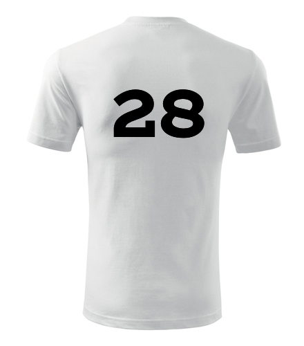 Tričko s číslem 28 - Trička s číslem