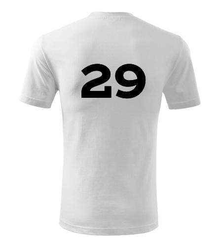 Tričko s číslem 29 - Trička s číslem
