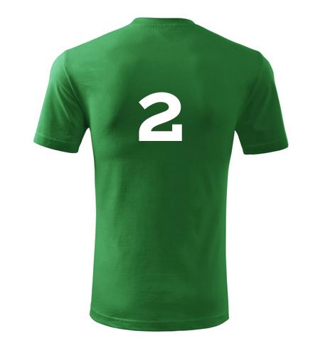 Tričko s číslem 2 - Dárek pro fotbalistu