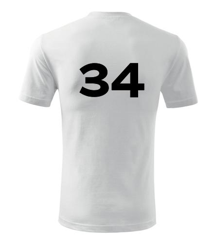 Tričko s číslem 34 - Trička s číslem