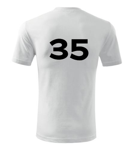 Tričko s číslem 35 - Trička s číslem