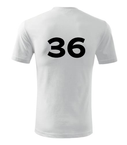 Tričko s číslem 36 - Trička s číslem