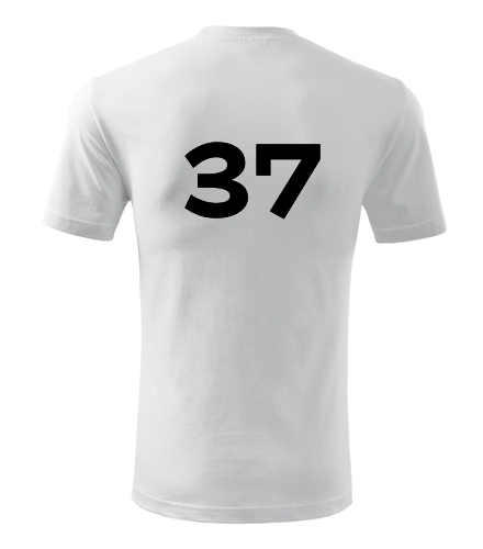 Tričko s číslem 37 - Trička s číslem