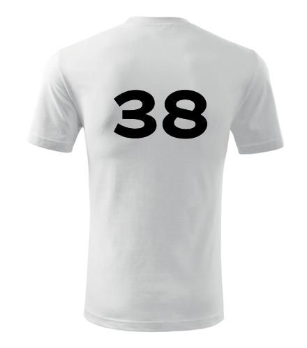 Tričko s číslem 38 - Trička s číslem