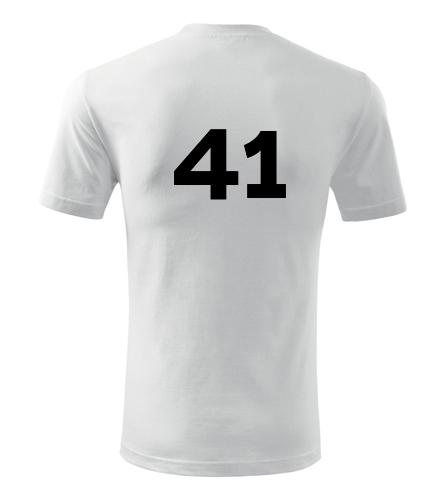 Tričko s číslem 41 - Trička s číslem