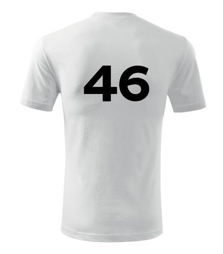 Tričko s číslem 46 - Trička s číslem