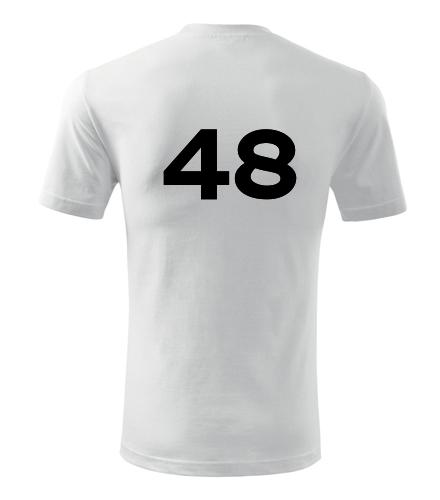 Tričko s číslem 48 - Trička s číslem