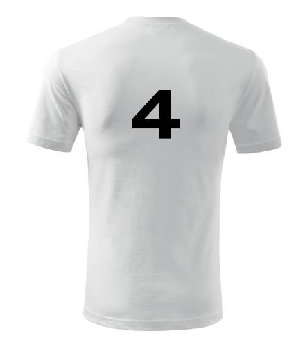 Tričko s číslem 4 - Dárek pro fotbalistu