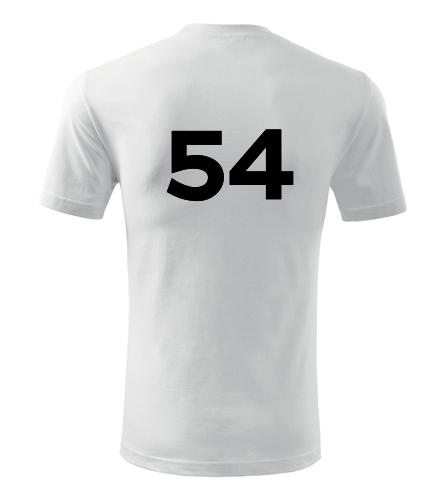 Tričko s číslem 54 - Trička s číslem