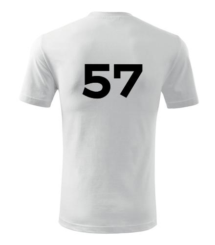 Tričko s číslem 57 - Trička s číslem