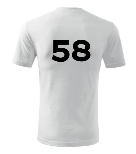 Tričko s číslem 58 - Trička s číslem
