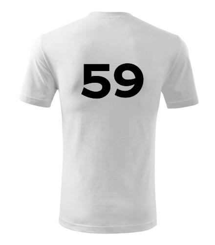 Tričko s číslem 59 - Trička s číslem