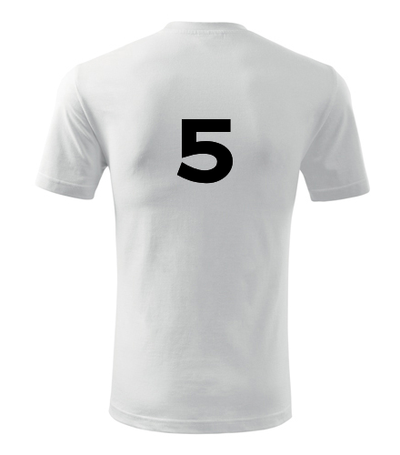 Tričko s číslem 5 - Trička s číslem