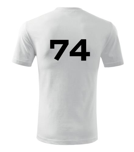 Tričko s číslem 74 - Trička s číslem