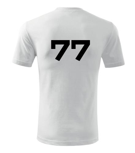 Tričko s číslem 77 - Trička s číslem