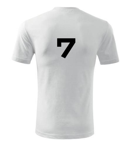 Tričko s číslem 7 - Trička s číslem
