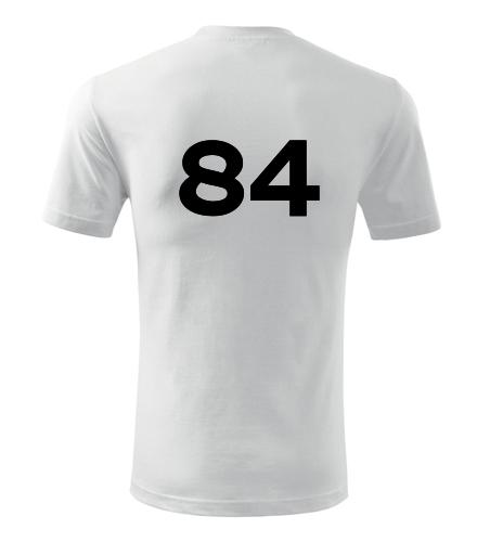 Tričko s číslem 84 - Trička s číslem