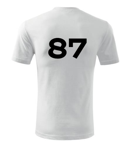Tričko s číslem 87 - Trička s číslem