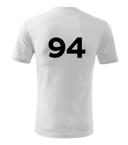 Tričko s číslem 94 - Trička s číslem