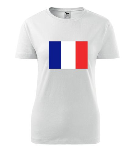 Dámské tričko s francouzskou vlajkou - Trička s vlajkou dámská