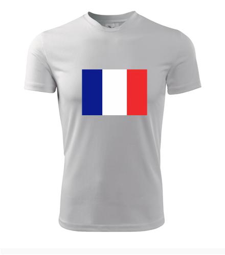 Tričko s francouzskou vlajkou - Trička s vlajkou pánská