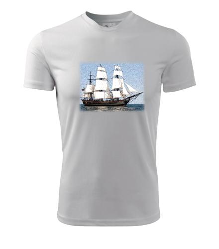 Tričko s historickou plachetnicí - Dárek pro vodáka