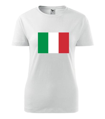 Dámské tričko s italskou vlajkou - Trička s vlajkou dámská