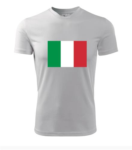 Tričko s italskou vlajkou - Trička s vlajkou pánská